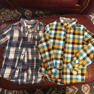 2 for 1 Cat & Jack collard shirts